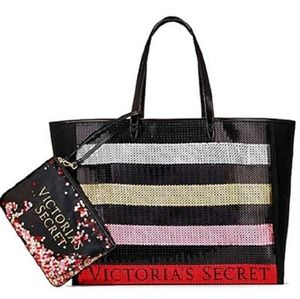Victoria Secret bag with bling sequin pouch